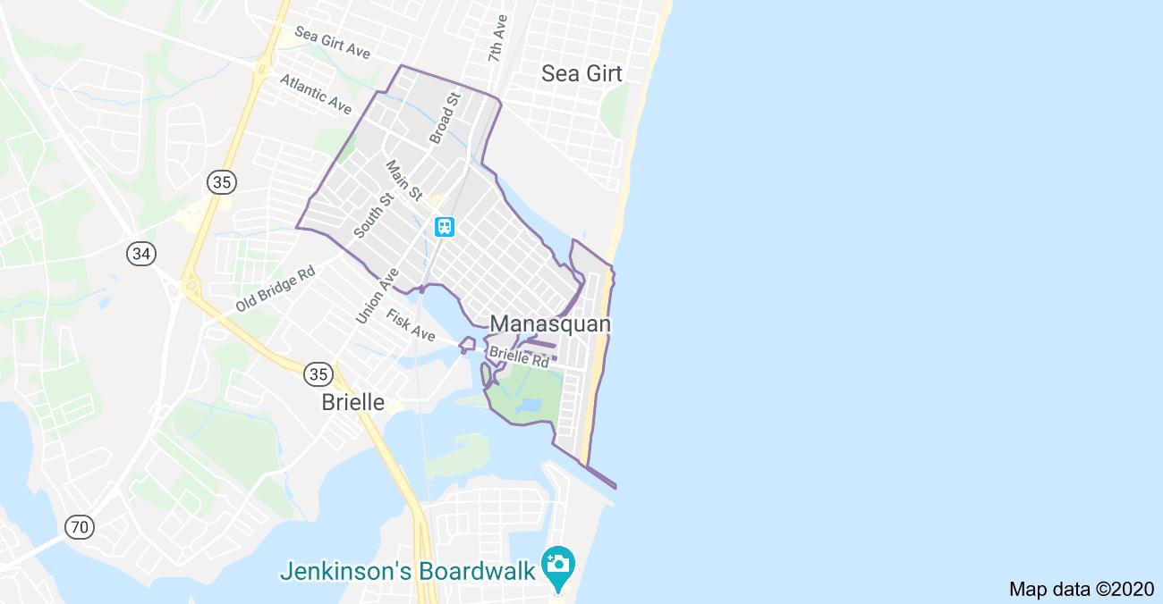Map of Manasquan, NJ Houses for sale in Manasquan NJ www.tonylipari.com