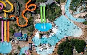 Aerial of Raging Waters